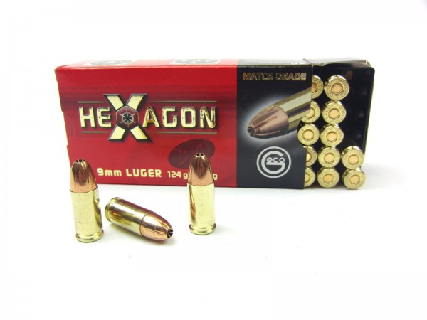 Geco 9mm Luger Hexagon 124gr./8,0g