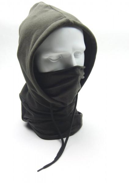 Baser Fleece Kaputze, Fleese Hood mit Gesichtschutz