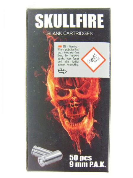 SKULLFIRE 9mm P.A.K. Stahlhülse Knallpatronen