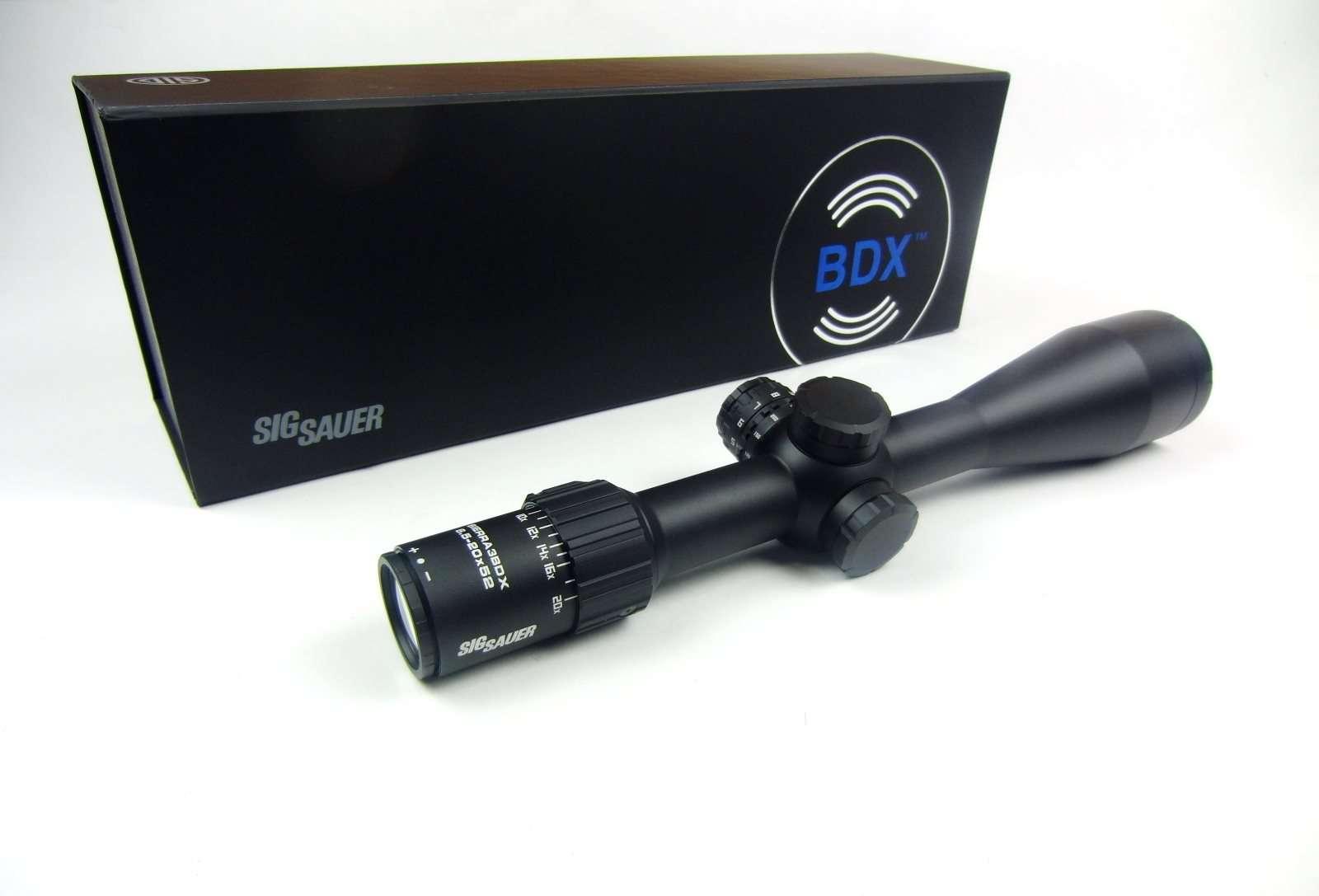 Steiner Zielfernrohr Mit Entfernungsmesser : Sig sauer sierra3 bdx 6 5 20x52 zielfernrohr & laser