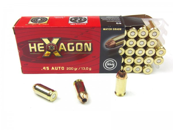 Geco .45 Auto Hexagon 200gr./13g