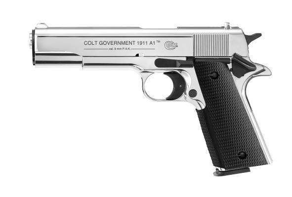 Colt Government 1911 A1 cal. 9 mm P.A.K. - polished chrome