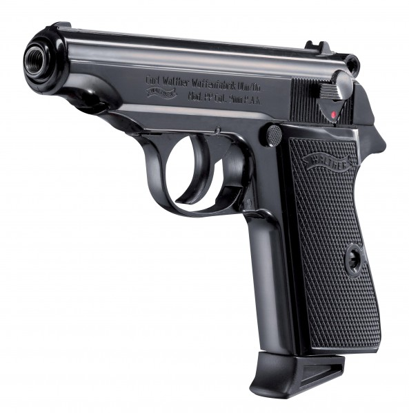 Walther PP cal. 9 mm P.A.K. - Schwarz