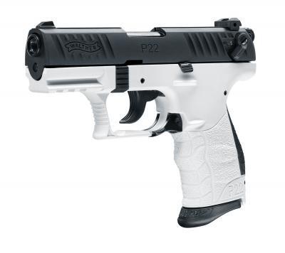 Walther P22Q Chess cal. 9 mm P.A.K. - Schwarz / Weiß