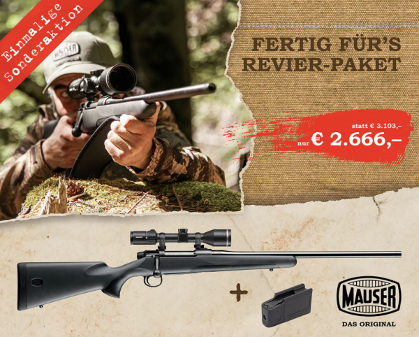 Komplettangebot Mauser M18, Hexalock, Minox 2-10x50