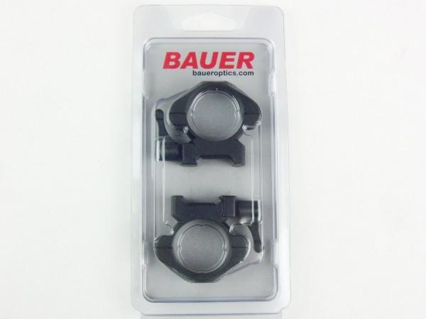 HJB Bauer - auf Weaver Schiene für 30mm Tubus, Stahlmontage mit Hebel BH 8,8